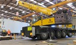 Terex Ac100 lifting large press inside building Christchurch